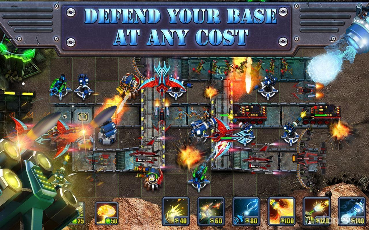 5d战略塔防游戏.使用不同的武器和塔保卫你的基地